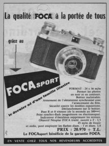 Vintage foca cameras advert